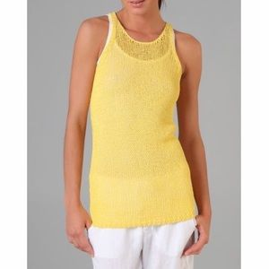 Vince bright Yellow Knit Tank Top
